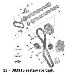 rozrząd Citroen / Peugeot 2,0HDi-16v DW10BTED4 136KM (oryginał Peugeot)