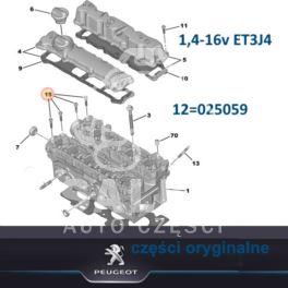śruba pokrywy wałka rozrządu Citroen, Peugeot 1,4HDi - nowy oryginał Peugeot