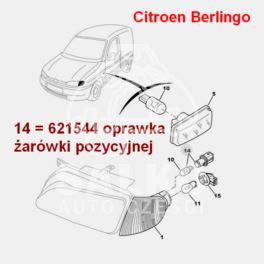 oprawka żarówki światła pozycyjnego Citroen, Peugeot wsuwana (oryginał Peugeot)