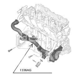 przewód sztywny chłodzenia Citroen 1,6HDi-16v (oryginał Peugeot)