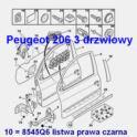 listwa drzwi Peugeot 206 3 drzwiowy prawa - oryginał Peugeot