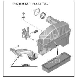przewód powietrza BERLINGO II 1,1/1,4/1,6 do filtra pow. (oryginał Peugeot)